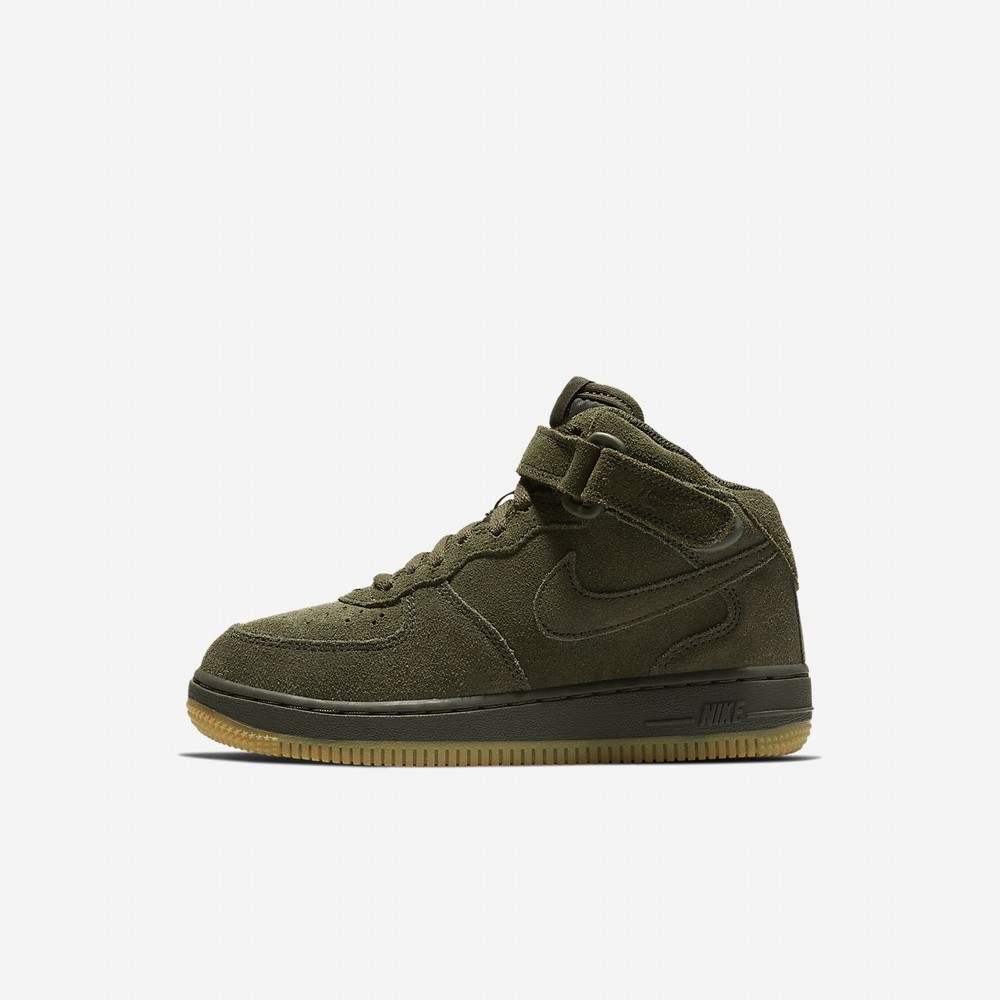 Lifestyle Topánky Nike Air Force 1 Mid LV8 Dievcenske (Younger Kids) SvetloHnede [SK744XIU]