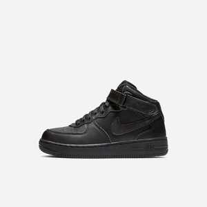 Lifestyle Topánky Nike Air Force 1 Mid Chlapcenske (Younger Kids) Čierne [SK173EAZ]